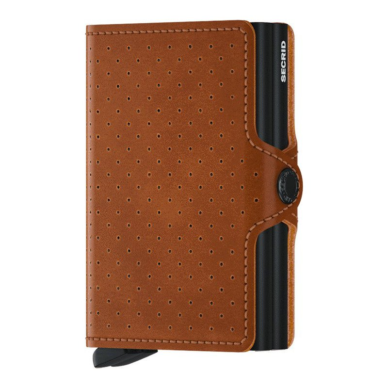 Lasker Signature Twinwallet Perforated Cognac