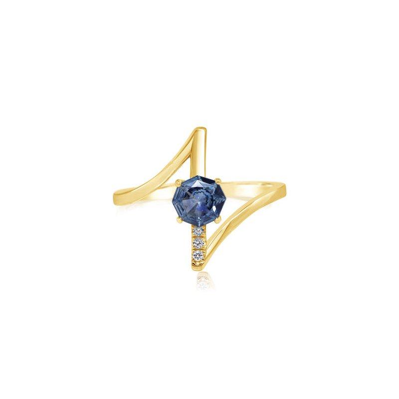 Lasker Gemstone Montana Sapphire Ring