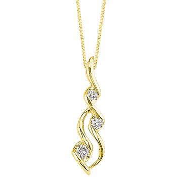 Wave Diamond Pendant