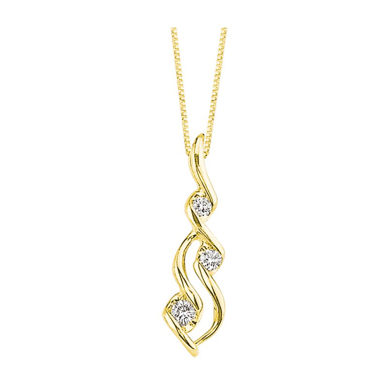 Lasker Diamond Fashion Wave Diamond Pendant