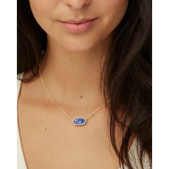 Elisa Yellow Satellite Pendant Necklace In Midnight Kyocera Opal Illusion