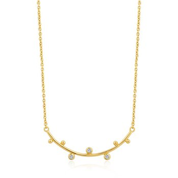 Shimmer Solid Bar Necklace