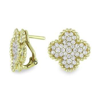 Granada Floral Diamond Earrings