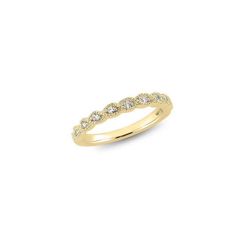 Lasker Bridal Fancy Diamond Stacking Band