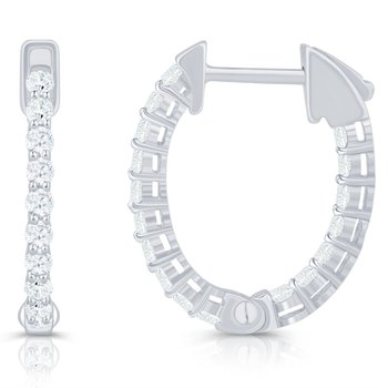 Oval Inside / Outside Hoop Earrings