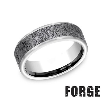 7MM TUNGSTEN BAND - CONCRETE FINISH