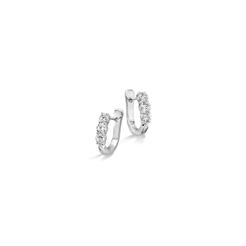 Lasker Diamond Fashion Past, Present, Future Celebration Diamond Earrings - .75ctw
