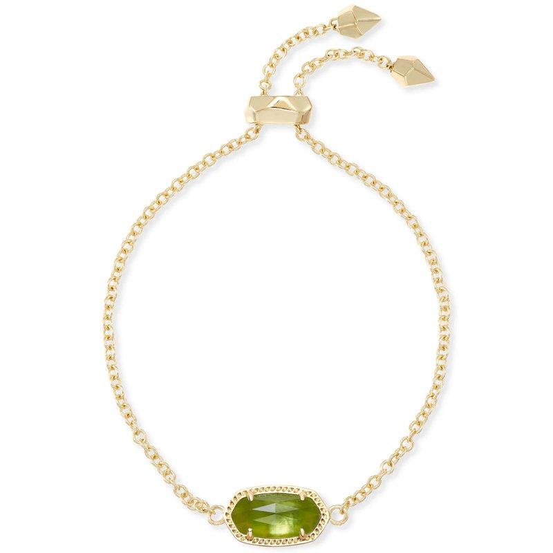 Kendra Scott Elaina Adjustable Chain Bracelet In Peridot Illusion