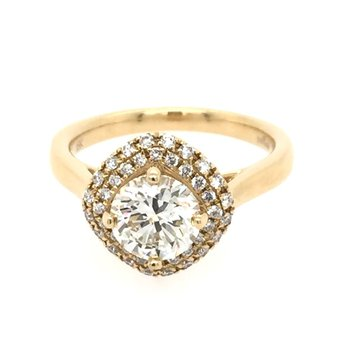 Double Halo Cushion Top Engagement Ring Mounting