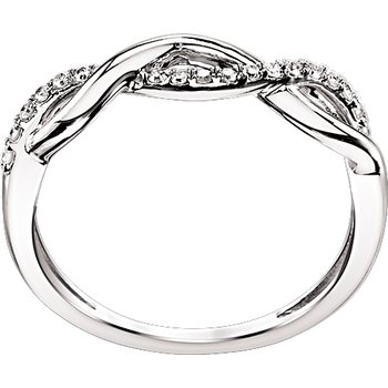 Infinity Weave Ring - White Gold