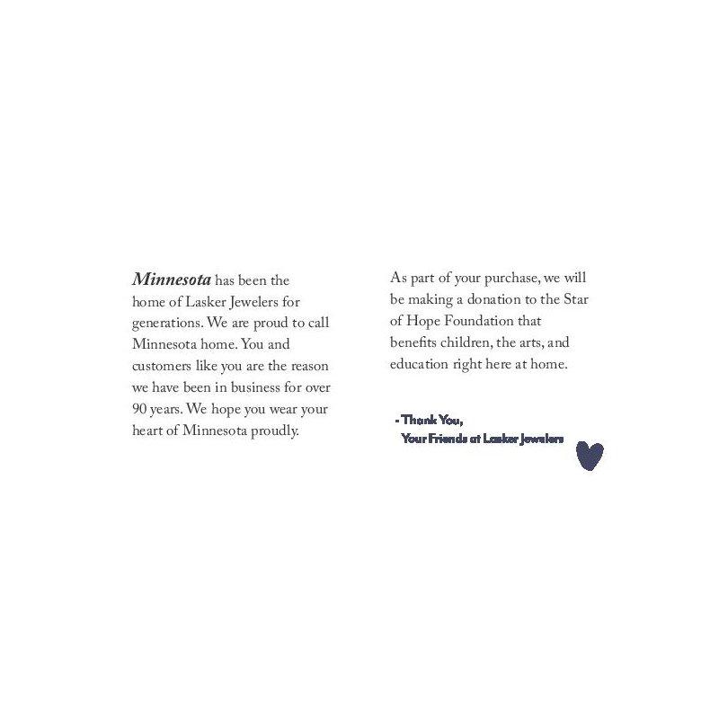 Lasker Signature Heart of Minnesota Pendant
