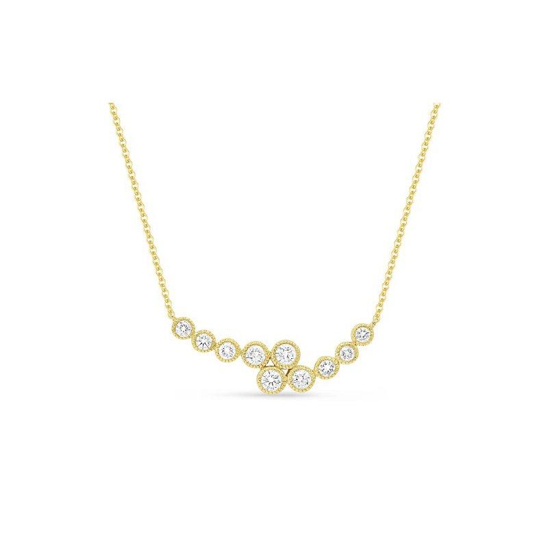 Lasker Diamond Fashion Bypass Crescent Necklace