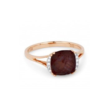 Red Garnet Split Shank Ring