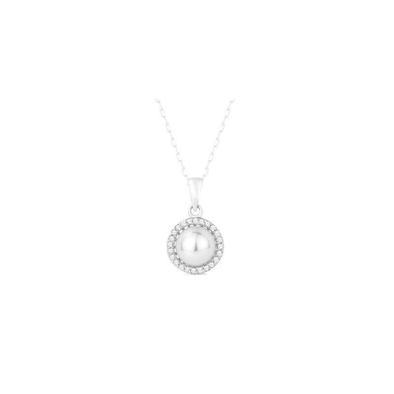 Lasker Pearl Fashion Diamond Halo Pearl Pendant