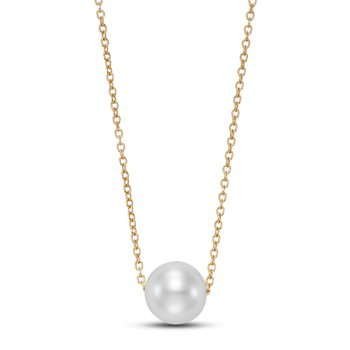 Floating Cultured Pearl Pendant