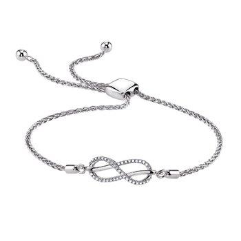 Sterling & Diamond Infinity Bracelet