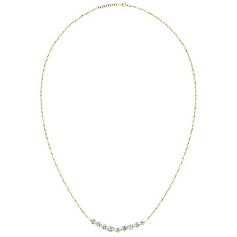 Lasker Diamond Fashion Curved Diamond Row Pendant