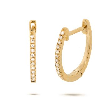 Everyday Diamond Hoops