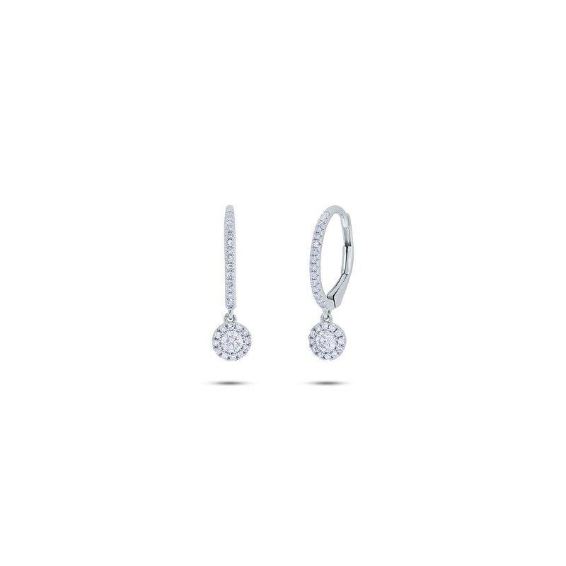 Lasker Diamond Fashion Diamond Drop Petite Halo Earrings