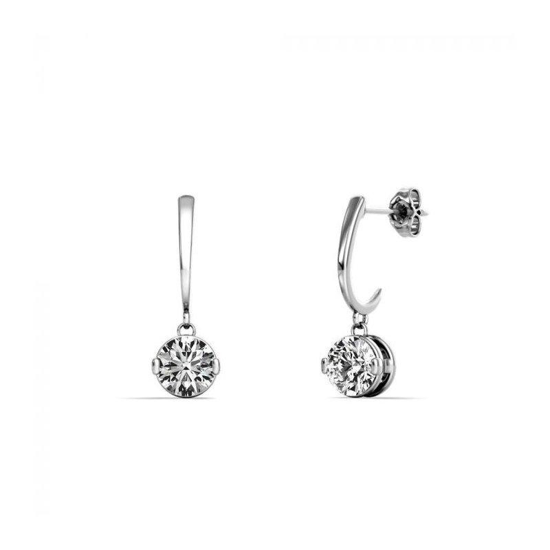 Lasker Diamond Fashion One & Only Dangle Earrings - 1/4CTTW