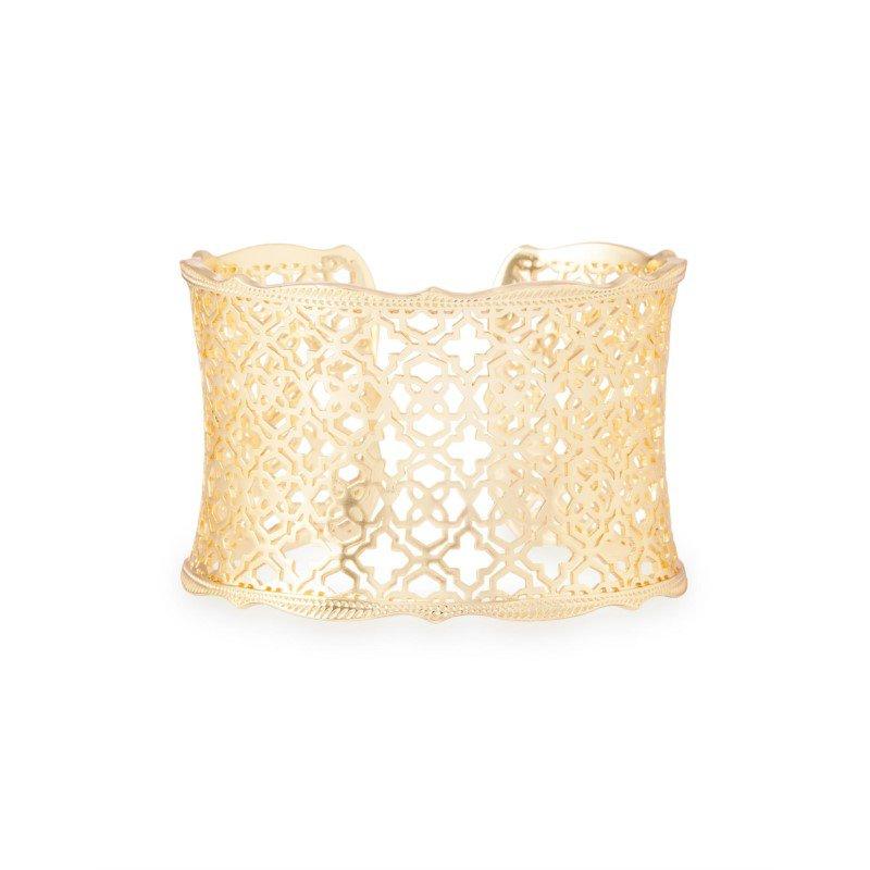Kendra Scott Candice Gold Cuff Bracelet In Gold Filigree Mix