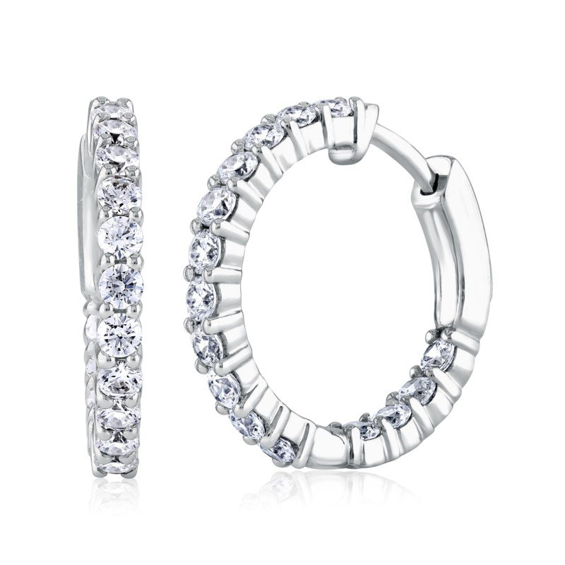 Fire & Ice Diamonds Fire & Ice Ara Hoop Earrings