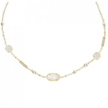 Maddie Gold Necklace In Ivory Mother-Of-Pearl