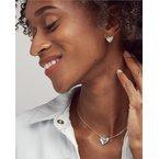 Kendra Scott Ari Heart Stud Earrings in Dichroic Glass
