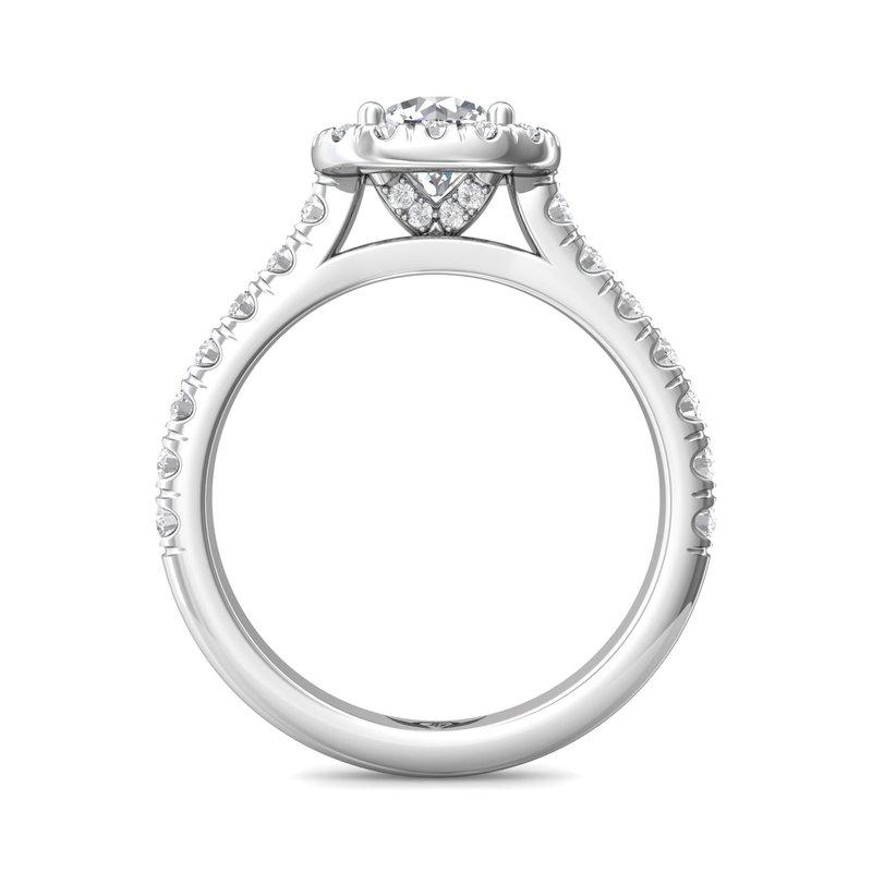 Martin Flyer Cushion Halo Diamond Engagement Ring