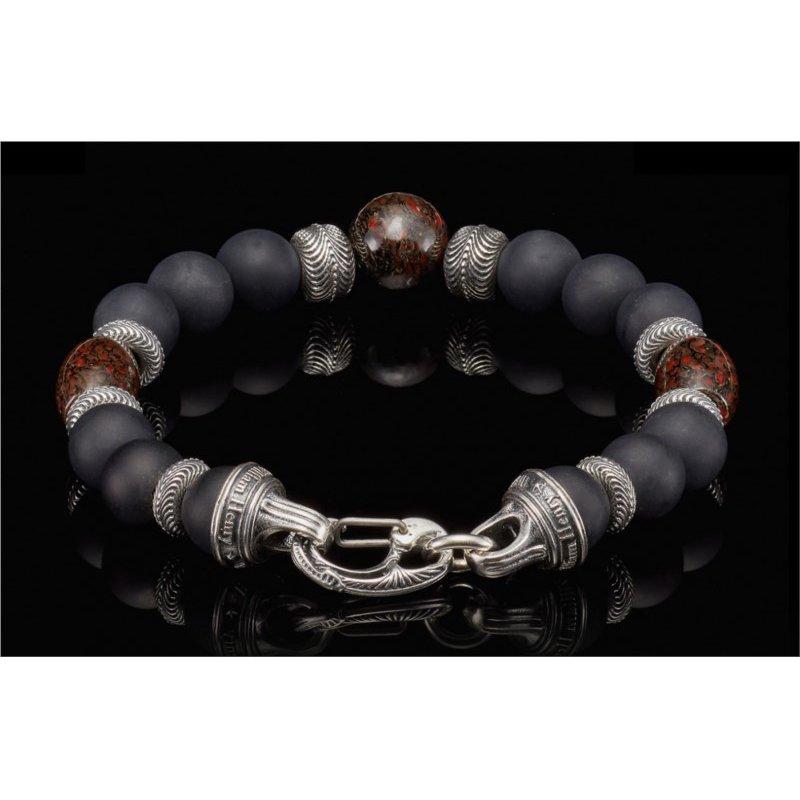 William Henry Magma Beaded Bracelet - Size Large