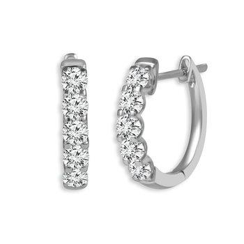 Classic Diamond Hoops - 1cttw