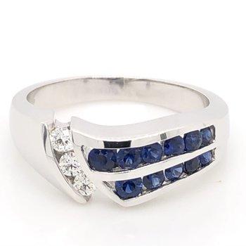 De Leo Sapphire & Diamond Ring