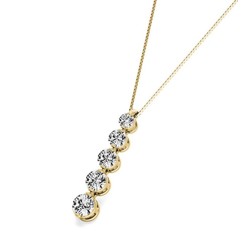 Lasker Diamond Fashion Journey Pendant - .75cttw