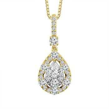 Tear Drop Diamond Pendant