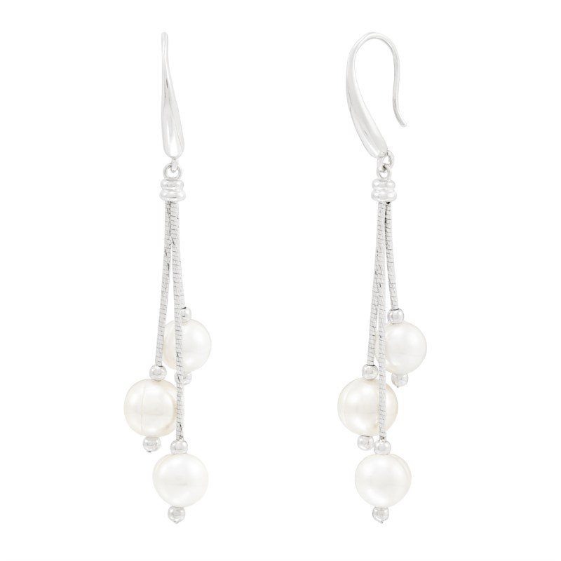 Lasker Pearl Fashion FWCP DANGLE EARRINGS