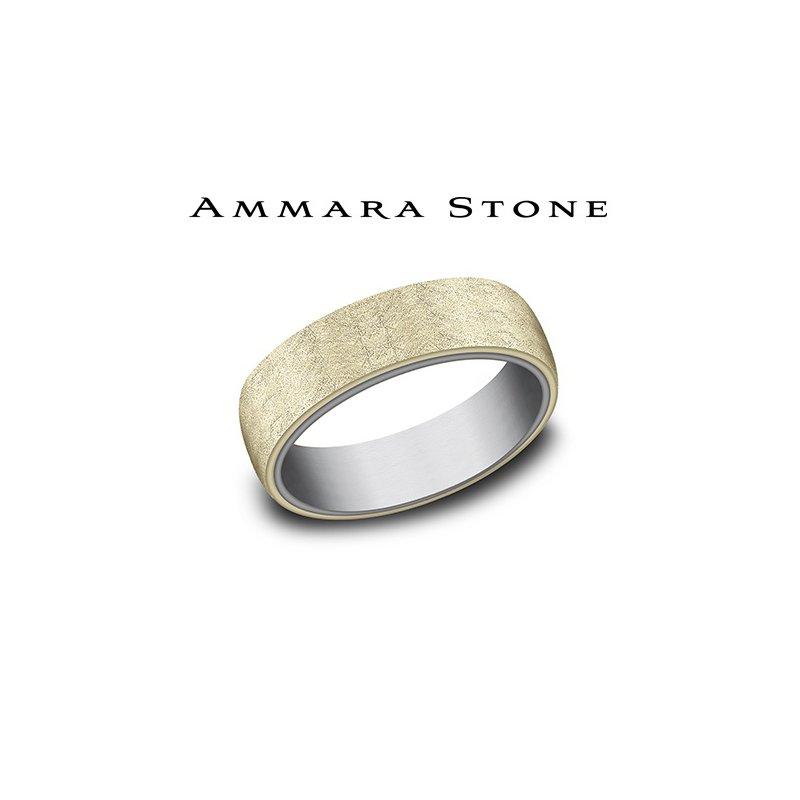 Lasker Men's Amara Stone - Tantalum & 14KT Yellow Gold