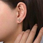 Gabriel Fashion 14K Yellow Gold Quatrefoil Stud Earrings