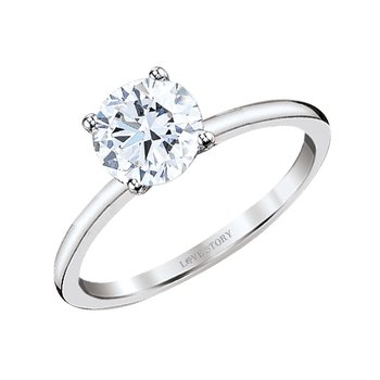 Simply Petite Solitaire Ring - 1/2ct