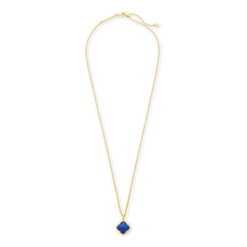 Kendra Scott Kendra Scott Mallory Pendant Necklace Yellow Indigo Opal