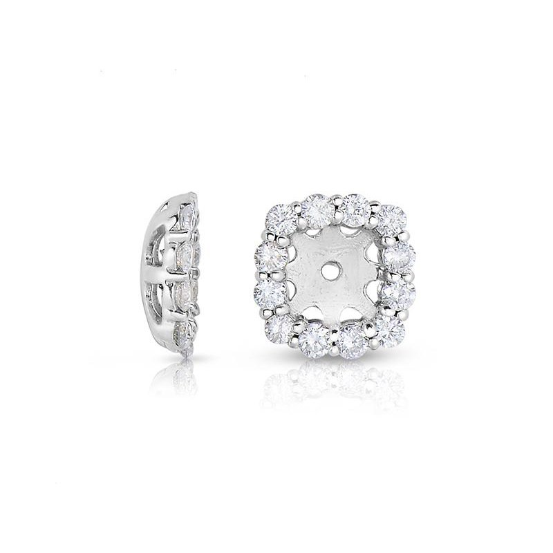 Lasker Diamond Fashion Cushion Stud Earring Jackets