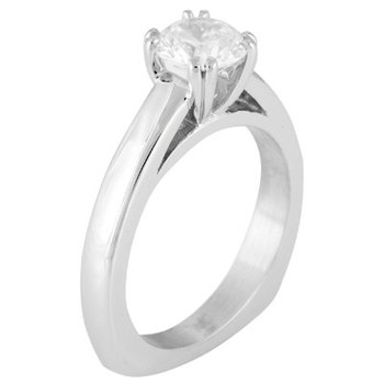 Solitaire Engagement Ring Mounting for Round Center