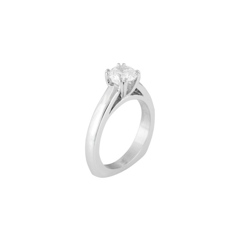 Lasker Bridal Solitaire Engagement Ring Mounting for Round Center