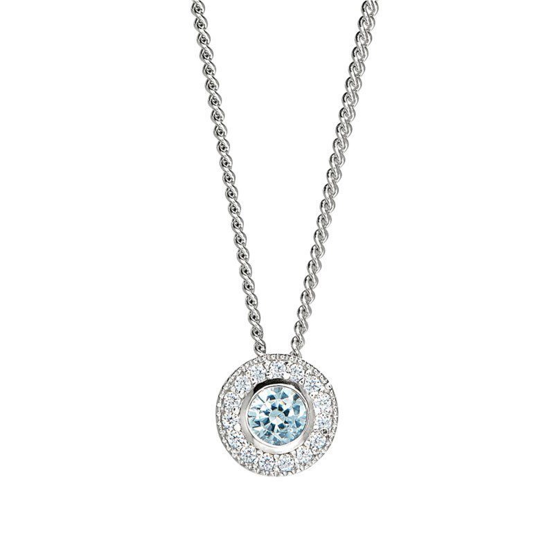 Lasker Signature Birth Gem Pendant - March