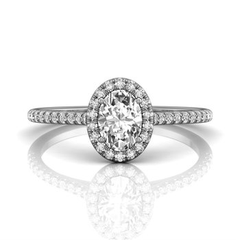 Classic Oval Halo Engagement Ring