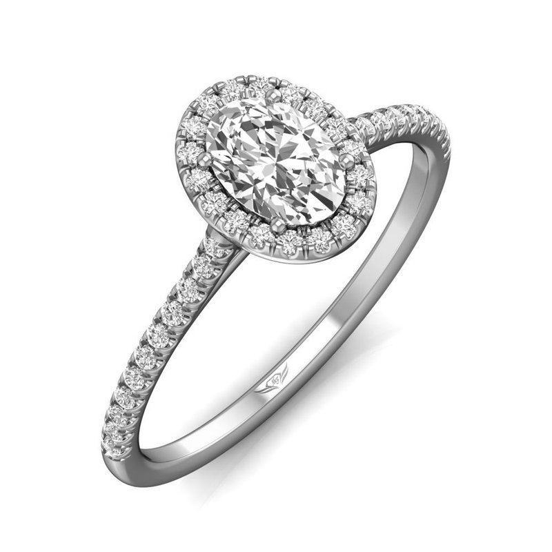 Martin Flyer Classic Oval Halo Engagement Ring