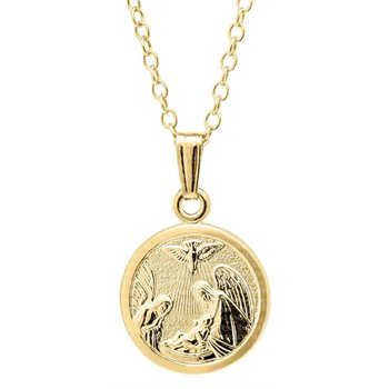 Gold Filled Baby Guardian Angel Pendant