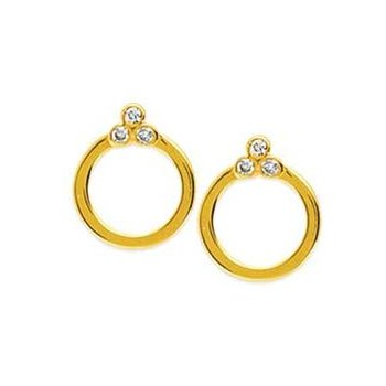 Diamond Trio Hoops