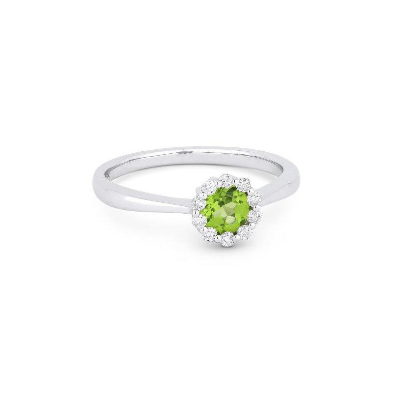 Lasker Gemstone Center Of My World Ring In Peridot