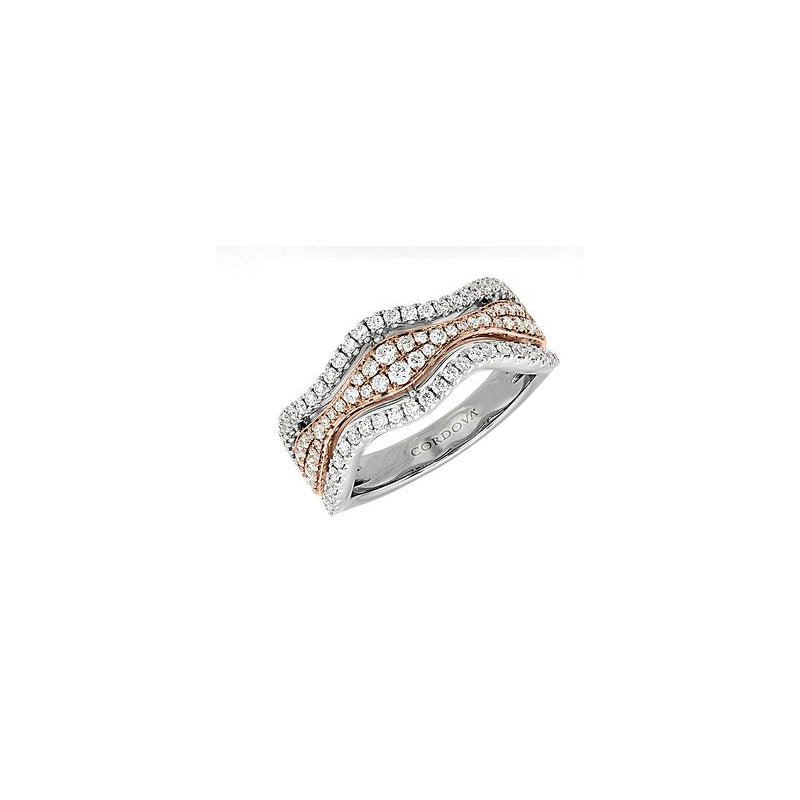 Lasker Bridal Diamond Wave Ring