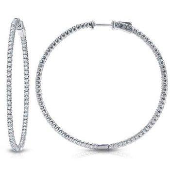 Large Endless Inside Out Diamond Earrings